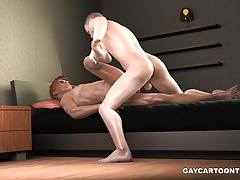 3D hunk getting fucked anally and cummed on
