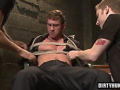 Muscle gay foot fetish with cumshot
