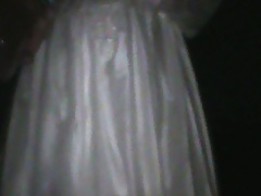 wet wedding gown outside
