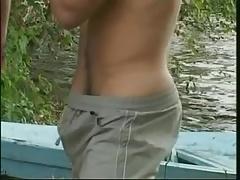 Boys Bareback in the Lake