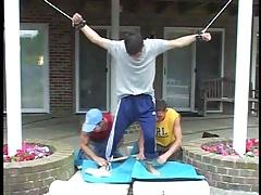 3 hot gays play a little BDSM !!!
