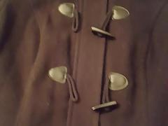 Cum on GFs black coat jacket
