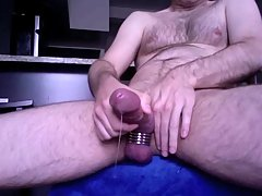Viscid jizzload from giant prick