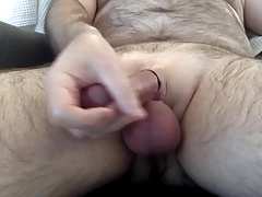 New shaved dick whit cock ring