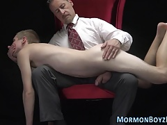 Ass toyed mormon spunks