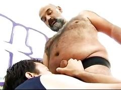 Boy banging a hirsute chubby bear