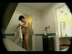 Hidden cam in Asian shower