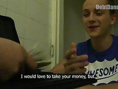 Cute Boy Stripping For Cash
