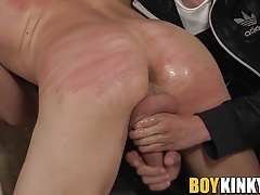 Very cute blond Kris is trained hard by big dick Ashton