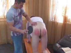 Uncircumcised schoolboy spanked pees sperm