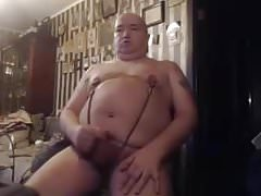 dude masturbates a little dick m big nipples