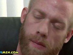 Ginger jock jerks cock