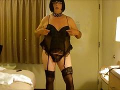 CD Sissy Slut Amber Nipple Orgasm and Eats Cum