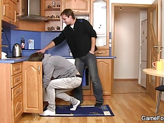 Plumber gives head and rides gay cock