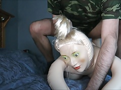 Blow up doll used for relief
