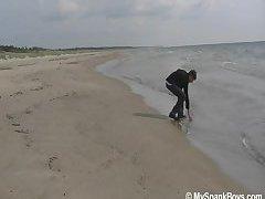 Beach Boy Get Spanked