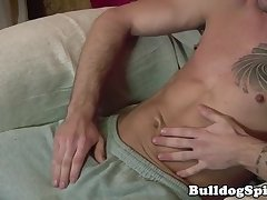 Dominant stud dominates over his submissive