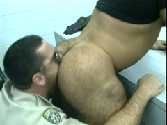 Big-assed gay bear gets his anus pounded hard from behind