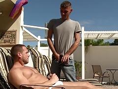 ExtraBigDicks Huge Cock Sucked Poolside