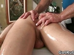 Massage professional in deep anal wrecking homosexual porno 2