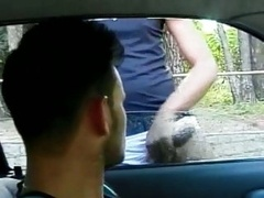 Black analhole making love in the car
