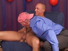 Str8 macho,muscle with huge pierced cock.
