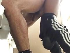Fucking at urinal