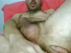 HOT UNCUT LATIN GUY CUMS FINGERING HIS HAIRY HOLE