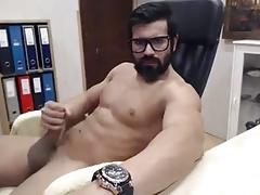 Muscles-big cock-beard. Perfect