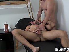 Big dick jock flip flop with massage