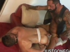 Nasty Tattooed Bear Gets down and dirty Buddy In Heat