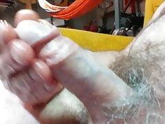 15, masturbating with my hard cock