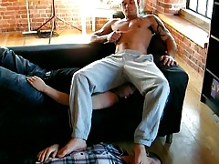 Trackie Facesit & Fart And Barefoot Worship