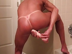 Double ended dildo and cum