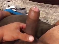 uncut buddy stroking his uncut dick