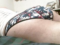 Phat Ass Shaking in new silk undies