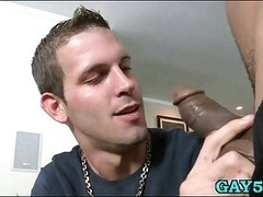 His mouth is not more than enough for this monster phallus