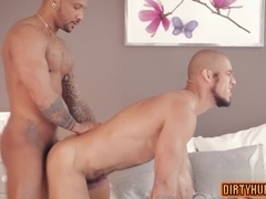 Muscle gay flip flop and facial