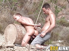 Two horny butt buddies have fetish anal fuck session
