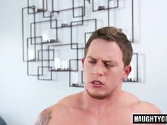 Tattoo boy rimming and creampie