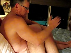 hot muscle daddy spanking his friend.