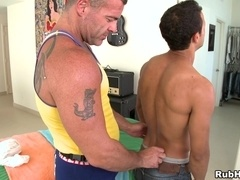 Gay masseur Trace Michaels gets his ass smashed by Romero