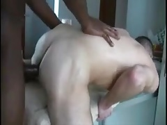 Big black gay used a white ass