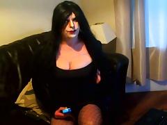 Goth tgirl