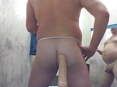JOEY D anal dildo gaping SuperMan 1