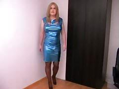 Blue spandex