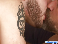 Handsome dilf assfucked by young top hunk