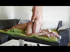Big dick daddy punishes his son.