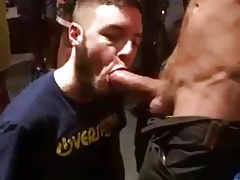 Sucking huge outdoor