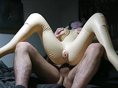Doll receives a hefty dose of sperm!